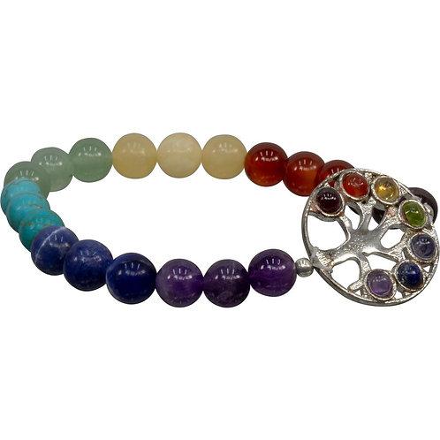 Chakra bracelet with tree