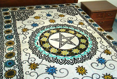 Floral Pentacle Tapestry