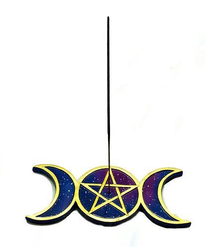 Moon Pentagram incense burner