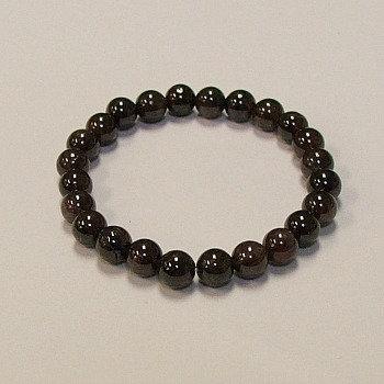 Garnet 8 mm bead bracelet