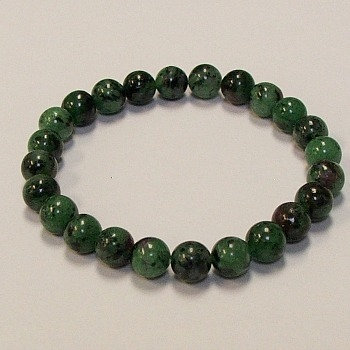 Zoisite Ruby 8 mm bead bracelet