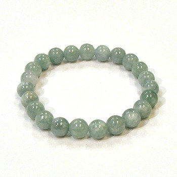 Aquamarine 8mm bead bracelet