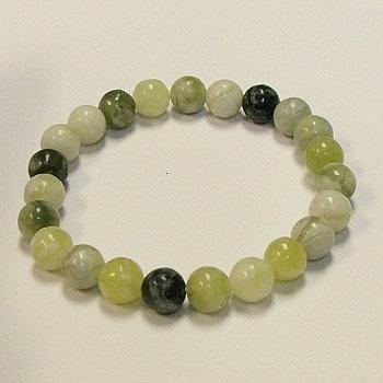 Jade, Qinghua 8 mm bead bracelet