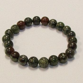 Dragon Bloodstone Jasper 8 mm bead bracelet
