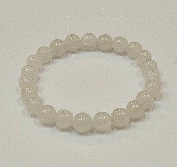 Quartz 8 mm bead bracelet
