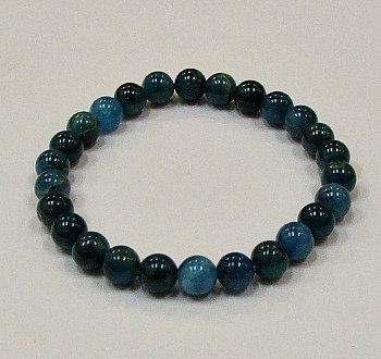 Apatite, Blue 8 mm bead bracelet