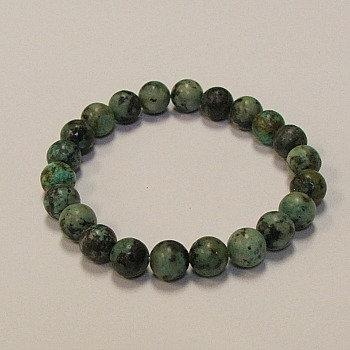 African Turquoise 8 mm bead bracelet