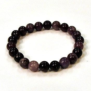 Lepidolite 8 mm bead bracelet