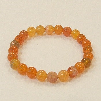 Carnelian, Madagascar 8 mm bead bracelet