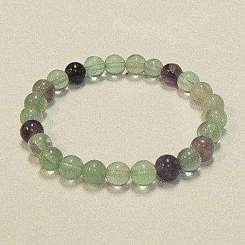 Fluorite 8 mm bead bracelet
