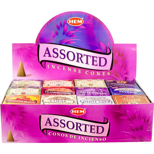 Hem Assorted Cone incense