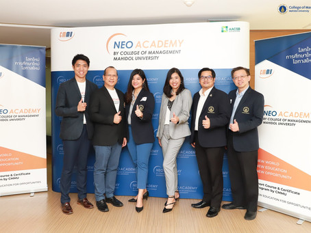 วิทยาลัยการจัดการ มหาวิทยาลัยมหิดล เปิดตัว NEO หลักสูตรเพื่อสร้างโอกาสใหม่ทางธุรกิจ