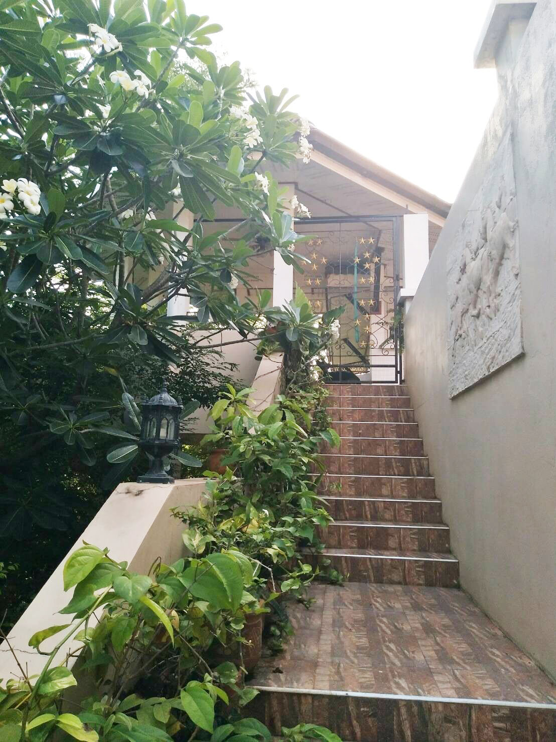 Entrance stairs to the House