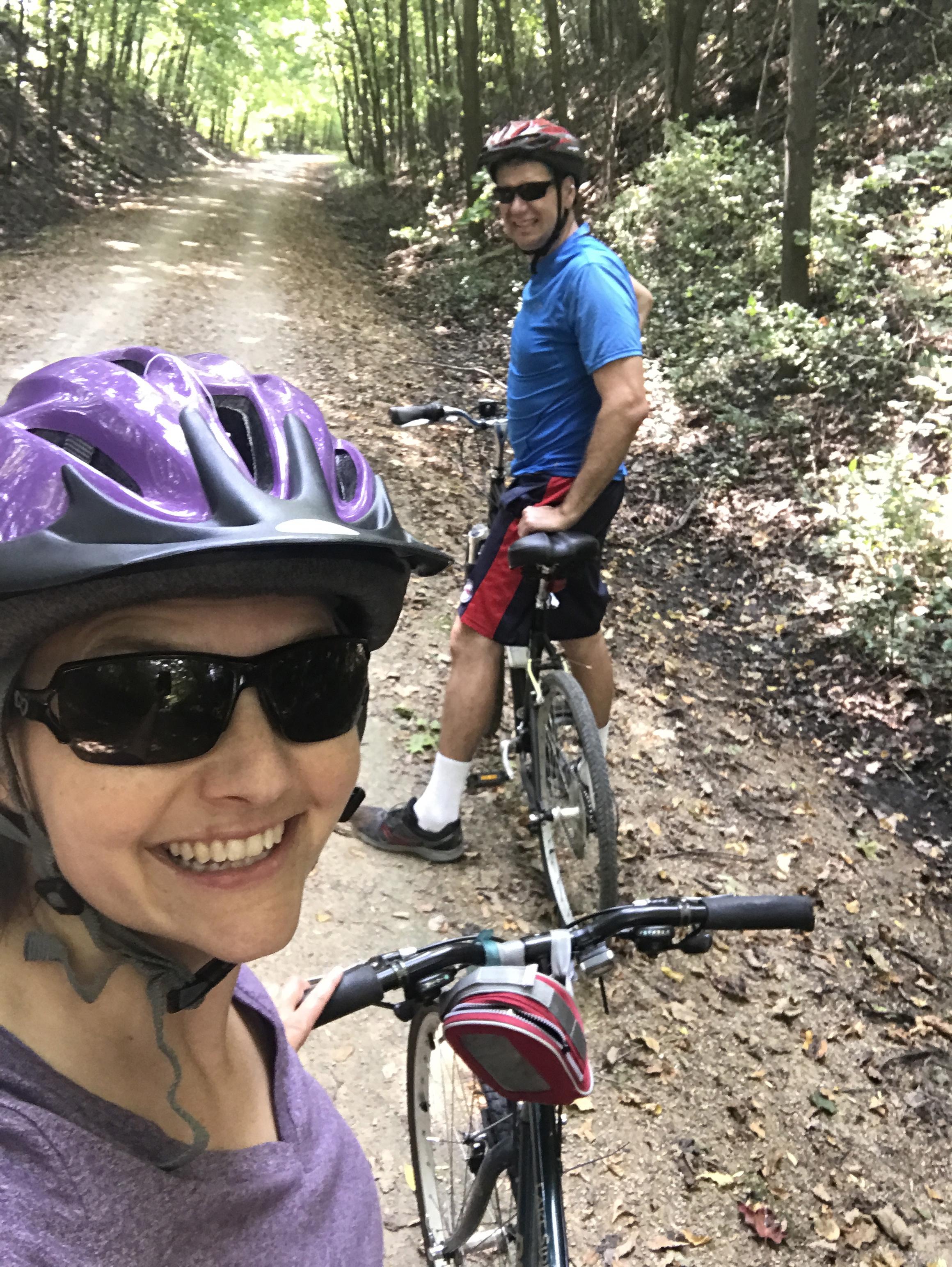 Biking near our home
