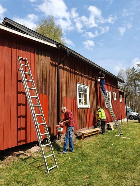 Målning av bygdegården