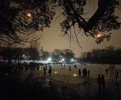 Beautiful night post-vortex mist on the