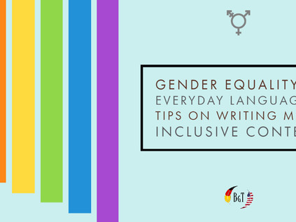 Gender Equality in Everyday Language & Tips on Writing More Inclusive Content