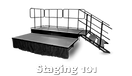 Height adjustable stage systems by Staging101 Australia