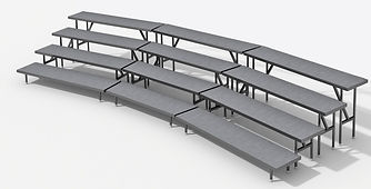 Choral Risers and Seated Risers by Intellistage Australia