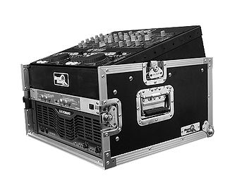 Designed with your choice of a 10U, 12U or 11U slanted top rack for convenient mixer/CD controller placement.