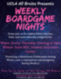 All Brains Weekly Boardgame Nights Flyer