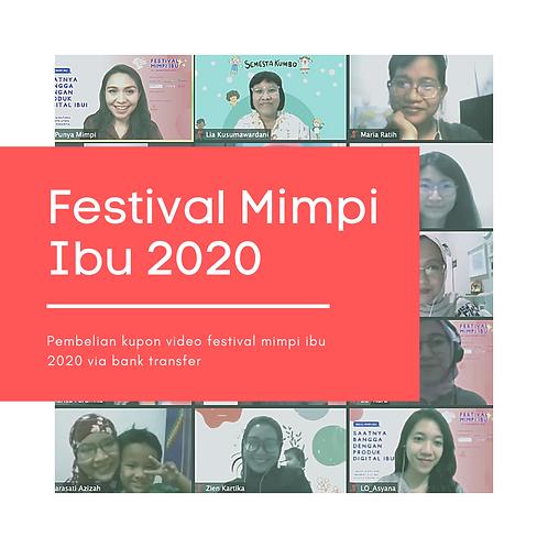 Kupon Video Festival Mimpi Ibu 2020