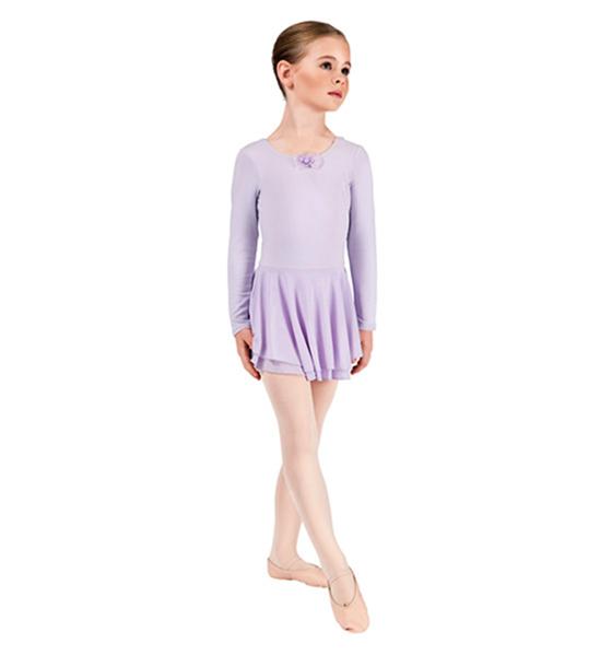 Lavender Long sleeved dance dress