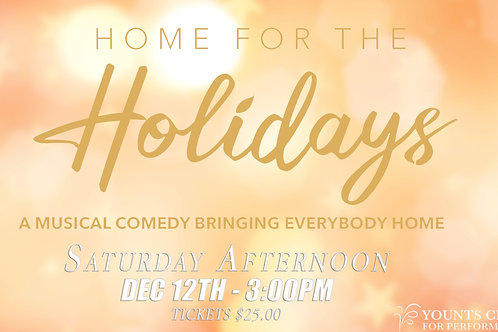 Saturday Afternoon - Dec 12th  @ 3:00pm
