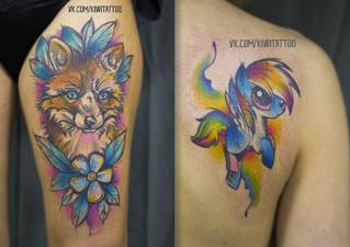 Григорьева Виктория Instagram: @kiwi_tattoo