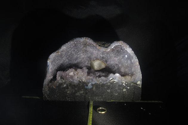 Amethyst Geode Cathedral with Calcite