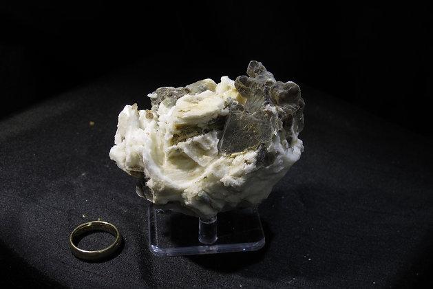 Muscovite and Apatite on Albite