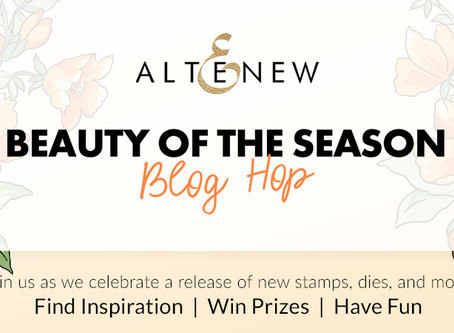 Altenew Beauty of the Season Stamps/Dies/ Stencils/Embossing Folders Release Blog Hop + Giveaway