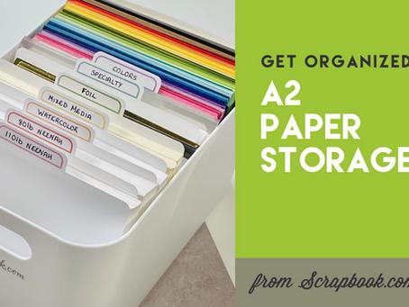 Get Organized: A2 Paper Storage