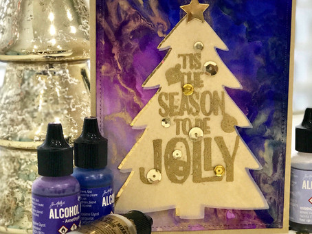 Alcohol Ink Holiday Cards - Part 3
