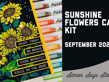 Simon Says Stamp - September 2021 Card Kit, Sunshine Flowers