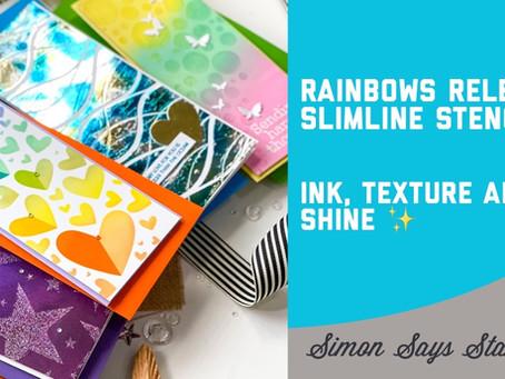 Simon Says Stamp - Rainbows Release Stencils