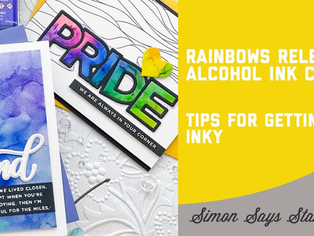 Simon Says Stamp - Rainbows Release Alcohol Ink Cards