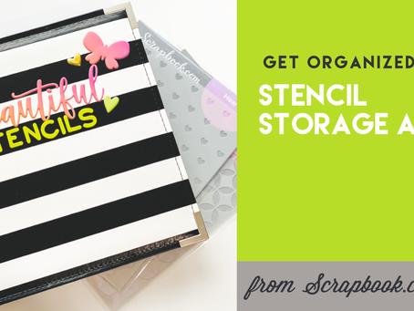 Get Organized: Stencil Storage Album