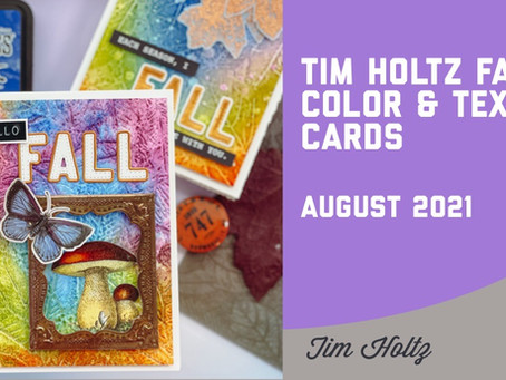 Tim Holtz - Fall Colors and Texture Cards
