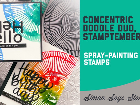 Simon Says Stamp - Concentric Doodle Rainbow Duo, STAMPtember 2021
