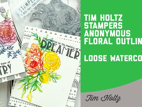 Tim Holtz - Stampers Anonymous Floral Outline Cards