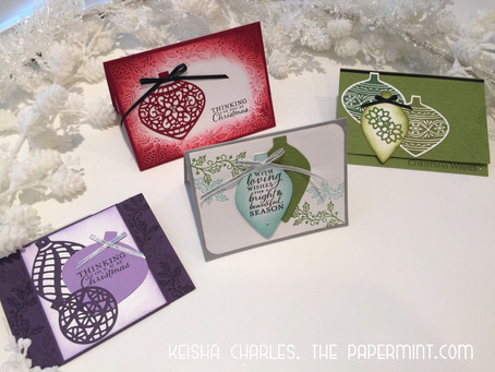Embellished Ornaments Christmas Card Class - ENROLLMENT CLOSED!
