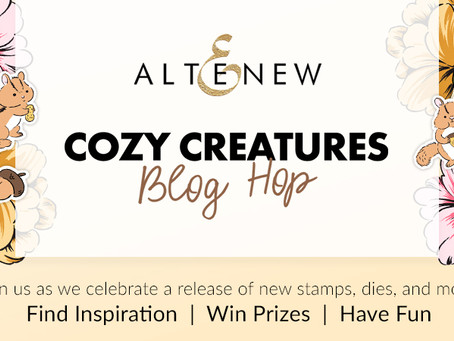 Altenew Cozy Creatures Stamps/Dies/Stencils Collection Release Blog Hop + Giveaway