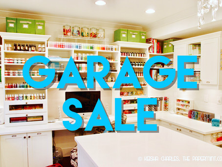 Spring Cleaning = Garage Sale!!! (UPDATED)