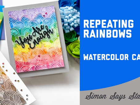 Simon Says Stamp - Repeating Rainbows Lazy Watercolor