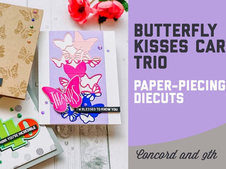 Concord & 9th - Butterfly Kisses Card Trio