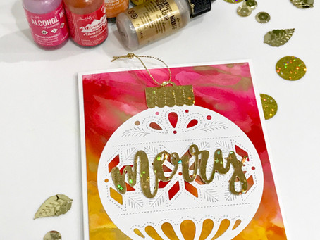 Alcohol Ink Holiday Cards - Part 2