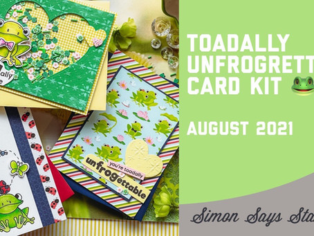 Simon Says Stamp - August 2021 Card Kit, Toadally Unfrogrettable