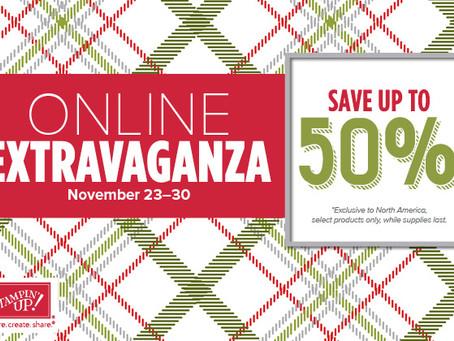 Save Up to 50% at Stampin' Up, November 23-30