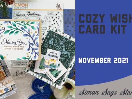 Simon Says Stamp - November 2021 Card Kit, Cozy Wishes